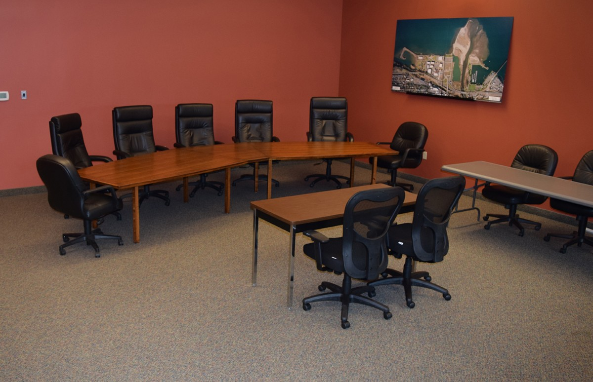 Reserve The Port Conference Room Port Of Hood River - 10 foot conference table with data ports