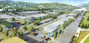 Concept drawing for Waterfront Business Park.