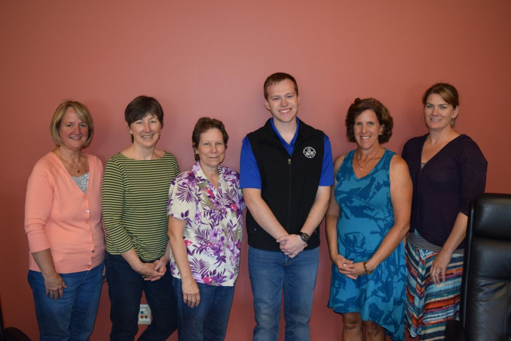 Engineering Intern Andrew Porter, pictured here with Port staff Laurie Borton, Janet Lerner, Melissa Child, Liz Whitmore, and Anne Medenbach at his big send off potluck. Thanks Andrew!