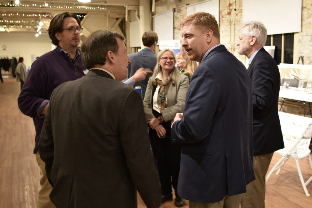 Kevin Greenwood chats with Rep. Daniel Bonham at the Gorgeous Night in Salem 2020