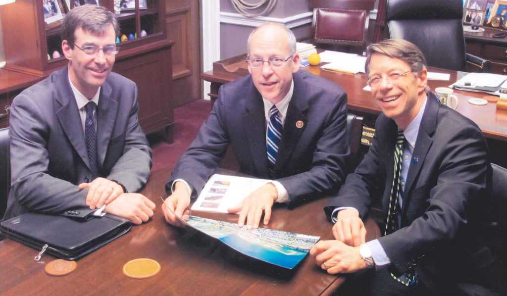 Jon Davies (L) and Michael McElwee (R) at one of many meeetings over the years with Greg Walden